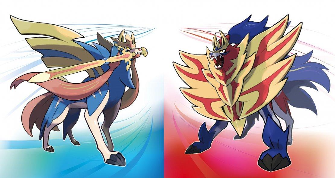Image of Zacian and Zamazenta, the new legendary Pokémon from Pokémon Sword and Pokémon Shield